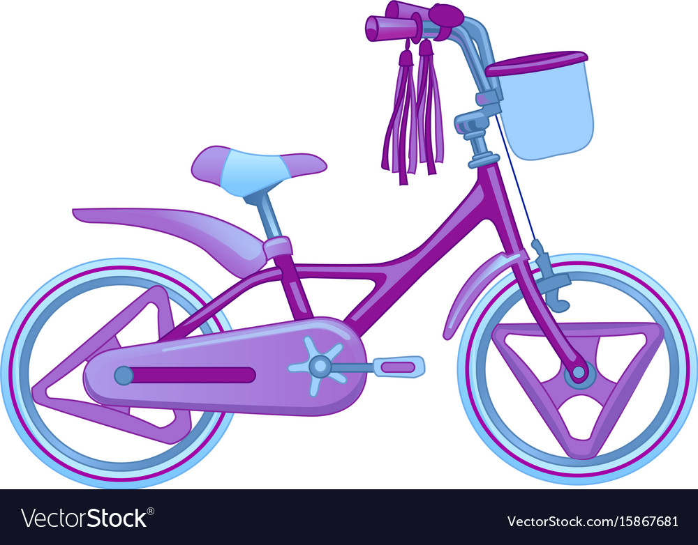 Cute kids bicycle isolated on.