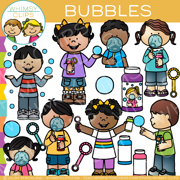 Kids Bubble Clip Art.