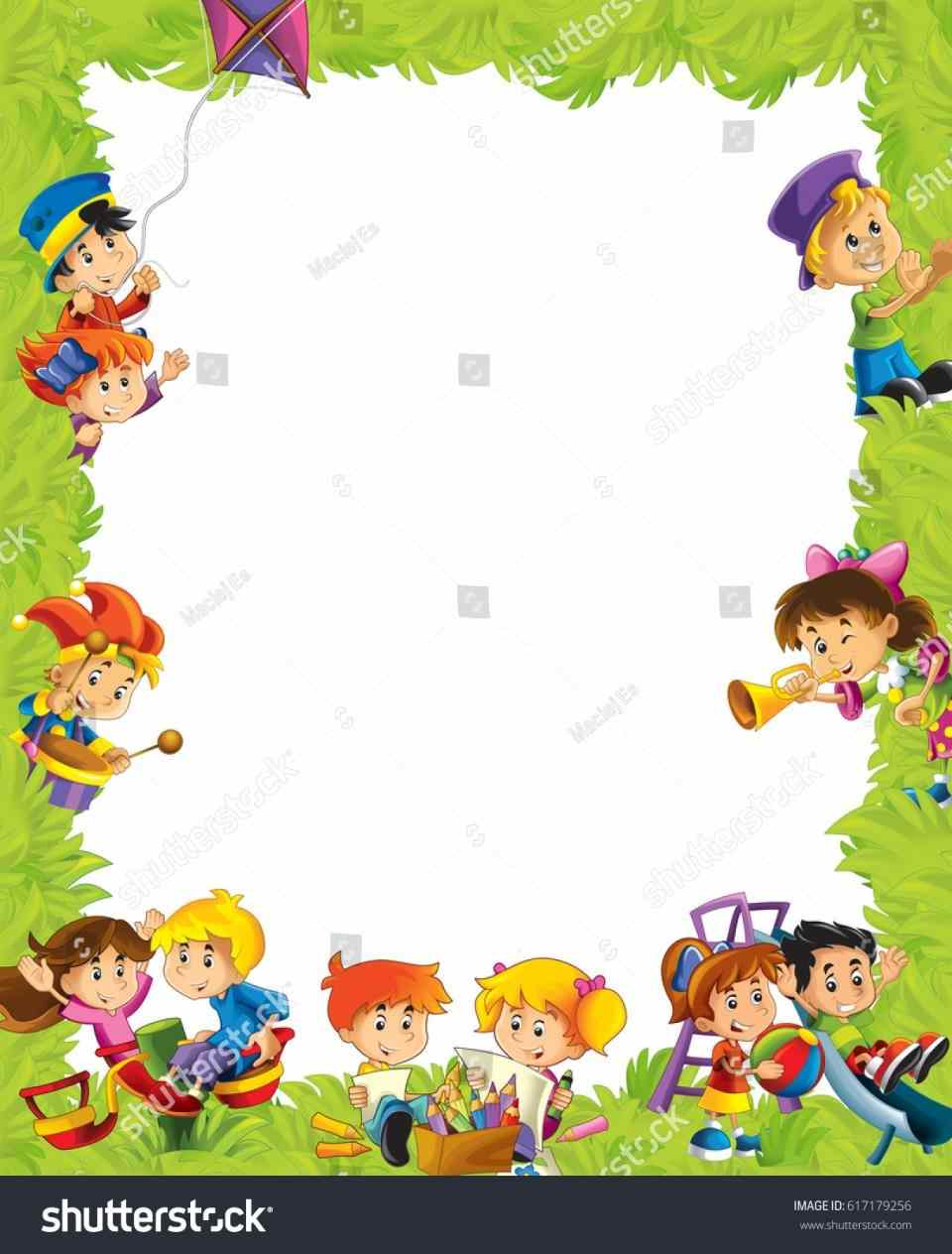 Playground border clipart kids frame drawing style stock » Clipart.
