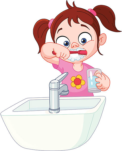 Kids brushing teeth clipart 4 » Clipart Station.