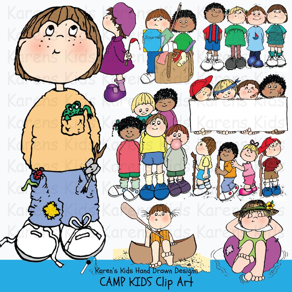 Clip Art Camp Kids.