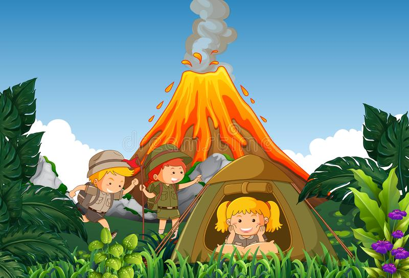 Kids Camp Clipart Stock Illustrations.