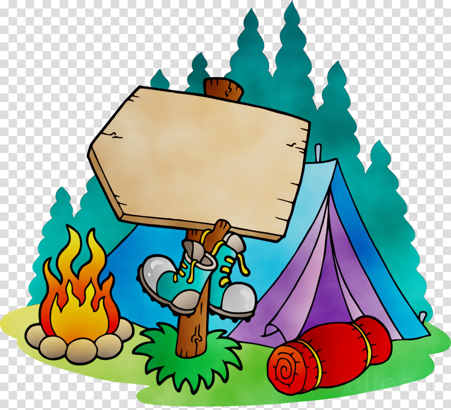 Camping Cartoon clipart.