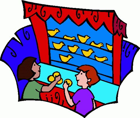 Kids carnival games clipart.