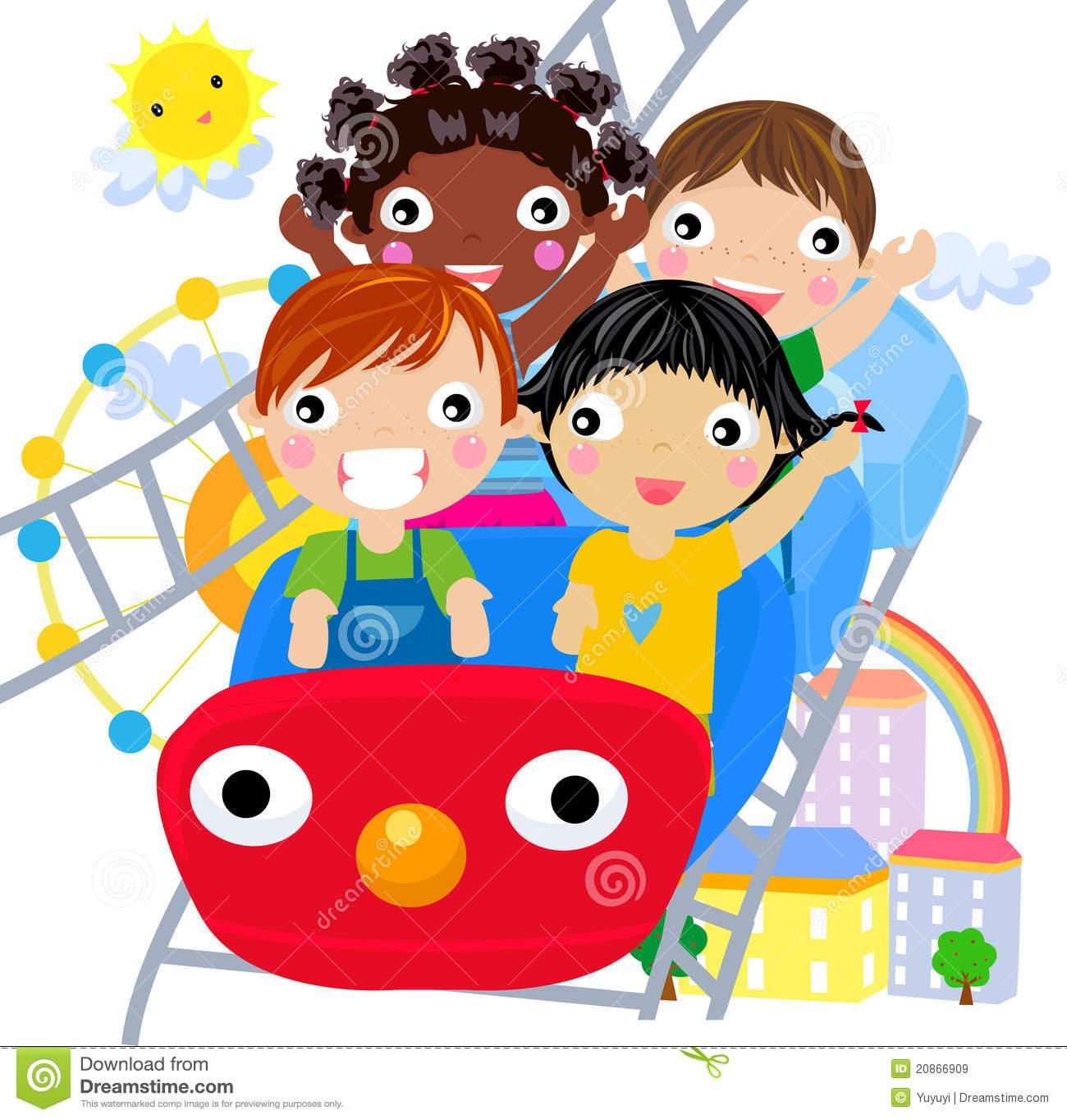 Kids carnival ride cli...