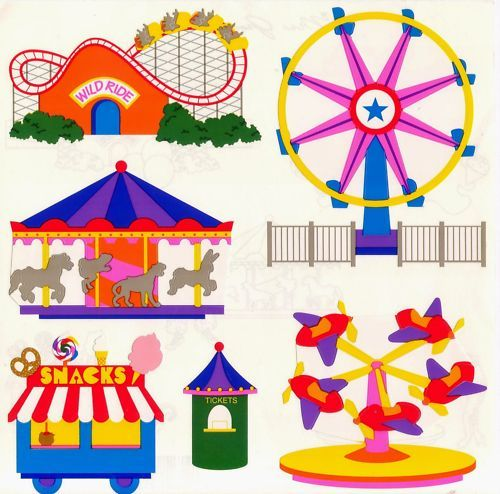Mrs Grossman's Kids Carnival Rides Roller Coasters 25 Sheets.