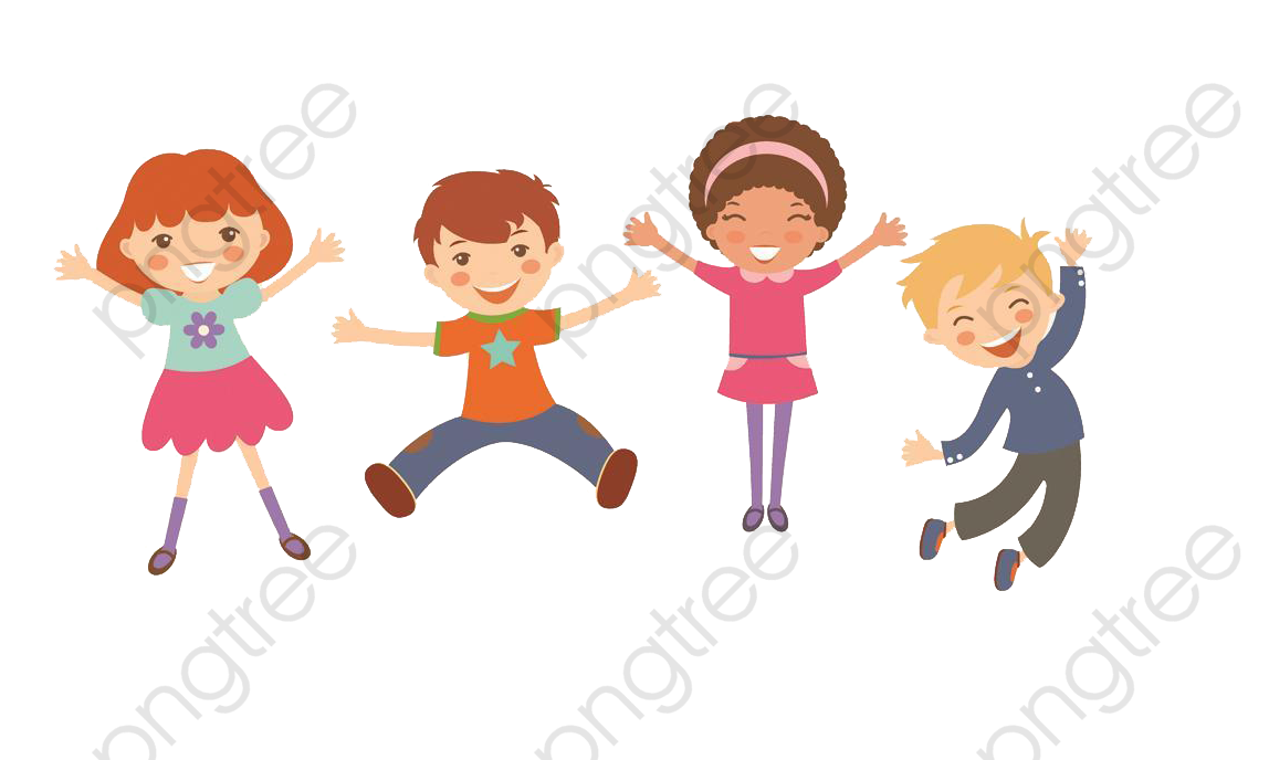 Happy Kids Cartoon Pictures, Kids Clipart, Cartoon Clipart, Jump PNG.