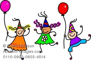 Kids Celebration Clip Art.