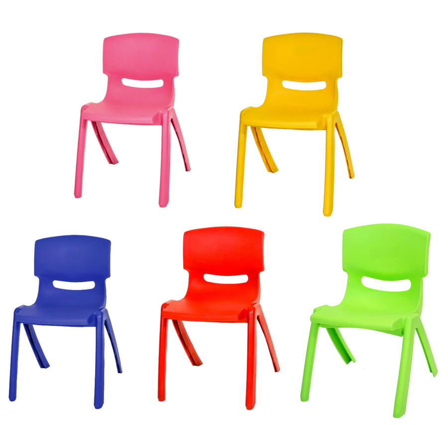 Download red kids/children high quality easy stackable plastic chair.