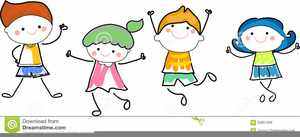 Children Cheering Clipart.