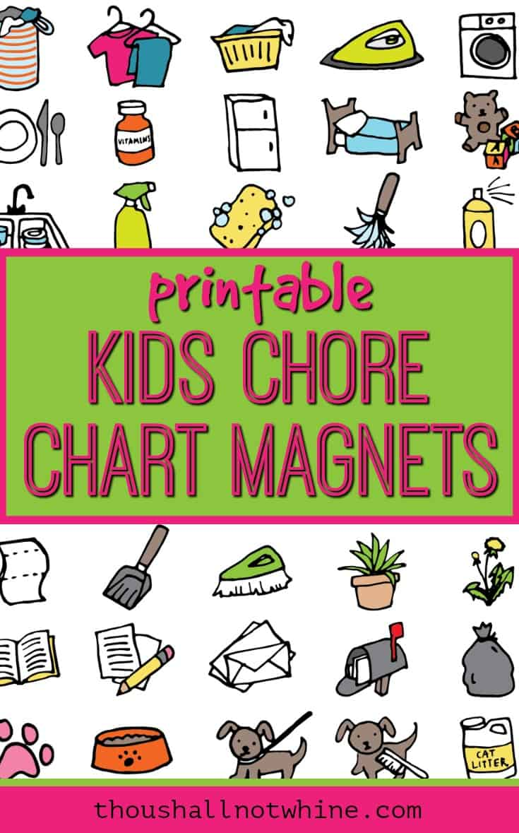 Kids Chore Chart Magnets (Printable).