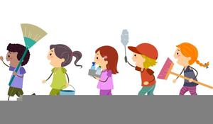 Chores Clipart Kids.
