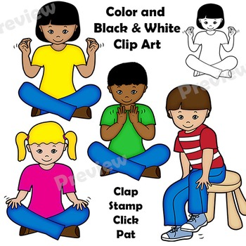 Body Percussion Clip Art.