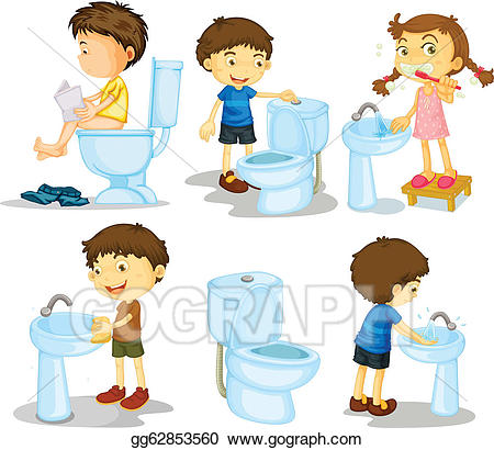 Kids cleaning bathroom clipart 3 » Clipart Station.