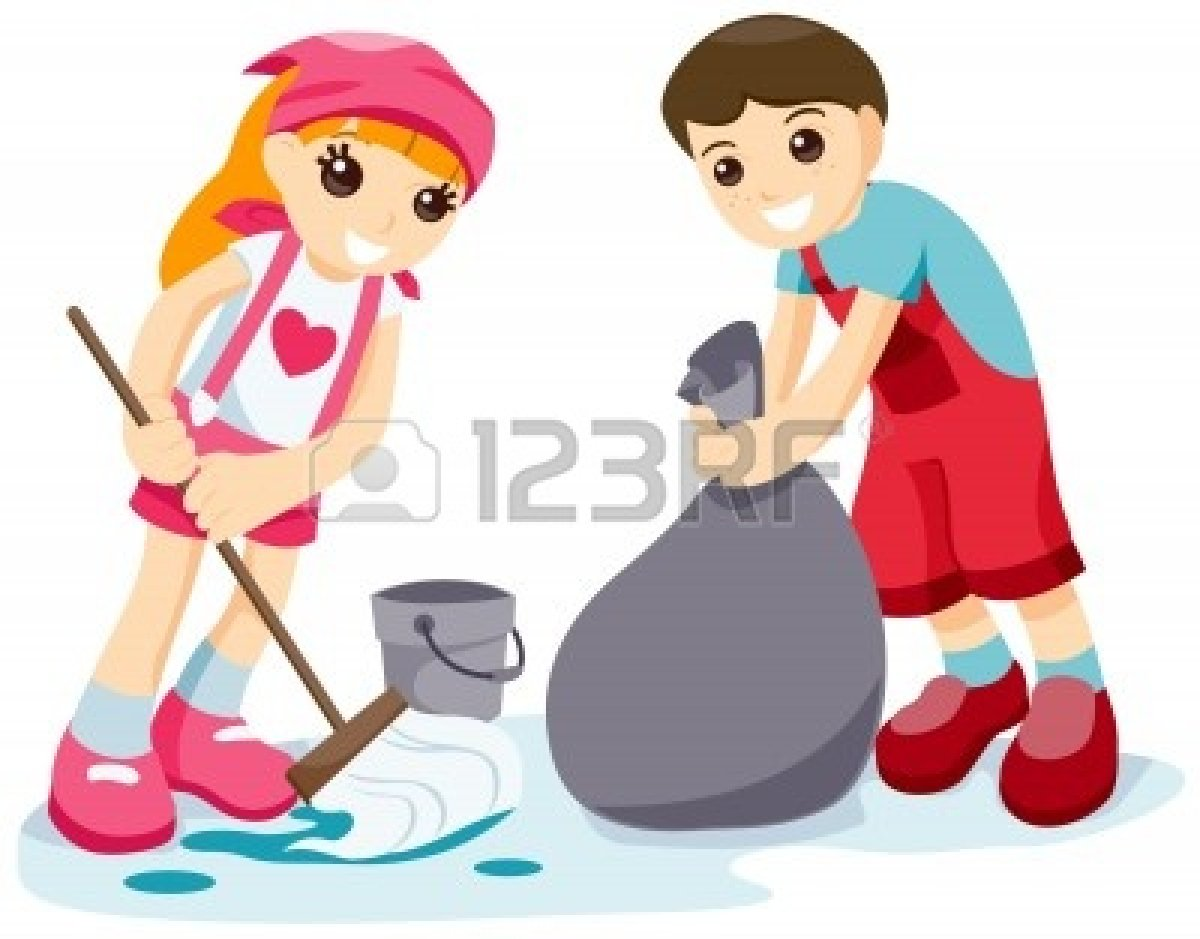 kids cleaning up classroom clipart clipground