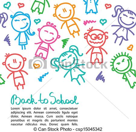 EPS Vector of kid background.
