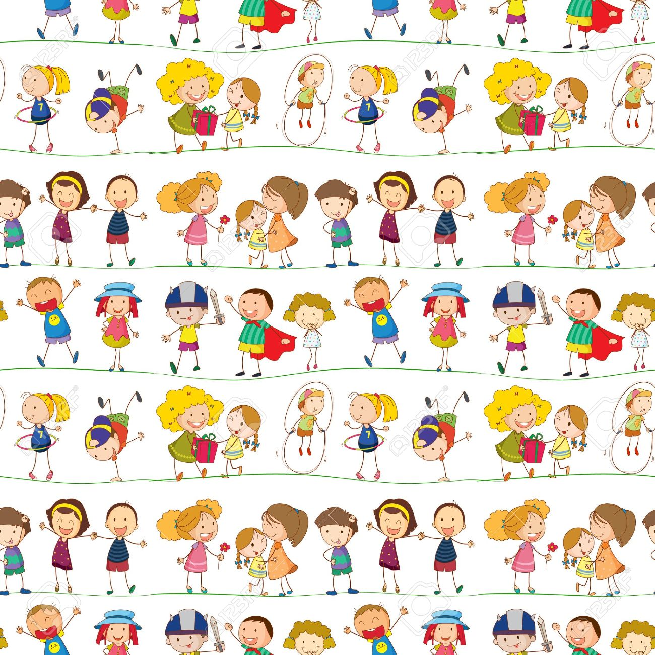 Illustration Of A Kids On A White Background Royalty Free Cliparts.