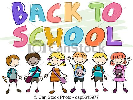 Kids Back To School Clipart.