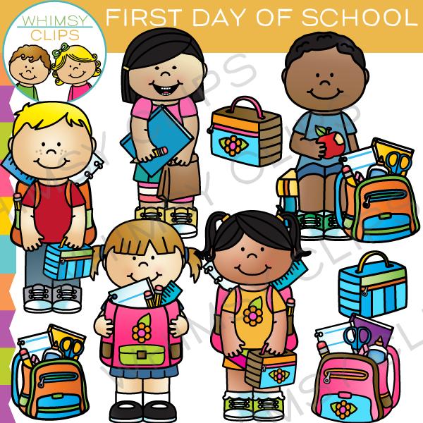 School kids clip art , Images & Illustrations.