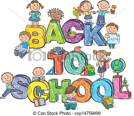 Kids Clipart First Day Of School.