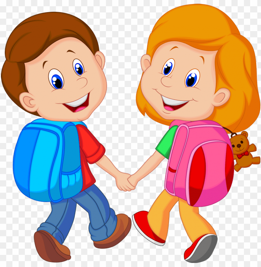 school kids clip art png PNG image with transparent.