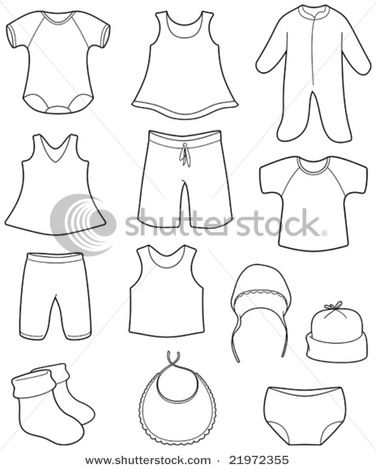 Vector Illustration: Children's clothes.