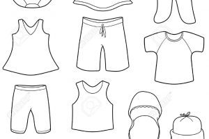 Kids clothes clipart black and white 5 » Clipart Portal.