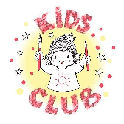 Kids club Clipart Image.