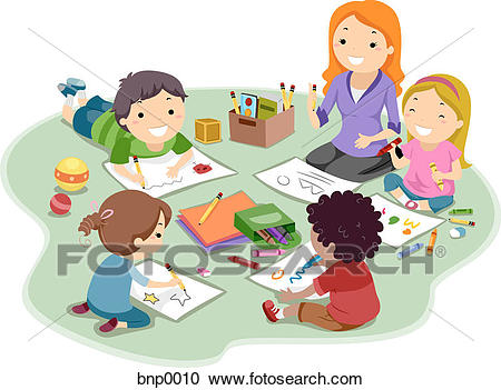 Kids coloring and drawing Clipart.