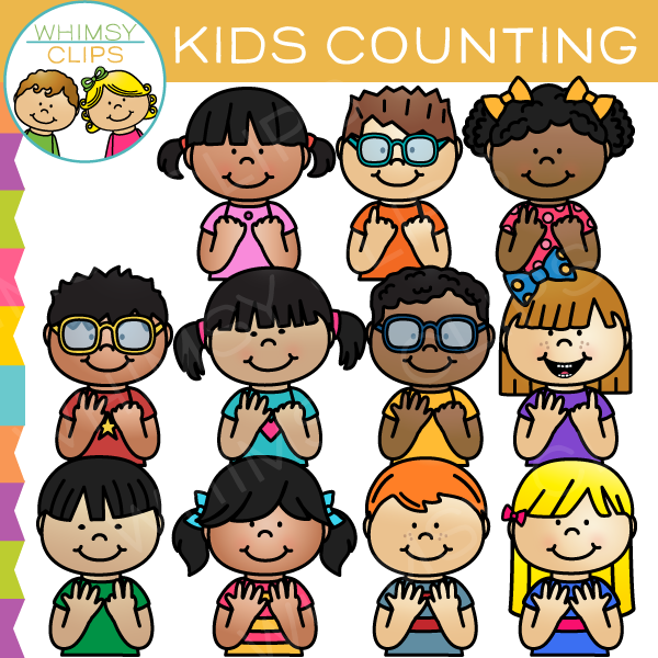 Kids Counting Clip Art.