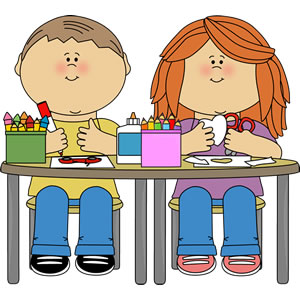 Kids crafts clipart.