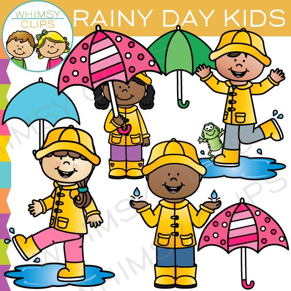 Rainy Day Photos Kids Clipart.