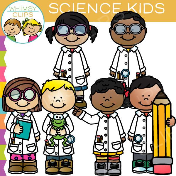 Science Kids Clip Art.