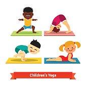 Kid Yoga Clip Art, Vector Kid Yoga.
