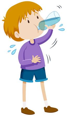 1,419 Kid Drinking Water Stock Vector Illustration And Royalty Free.
