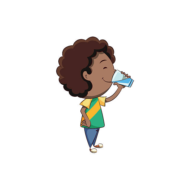 Best Kids Drinking Water Illustrations, Royalty.