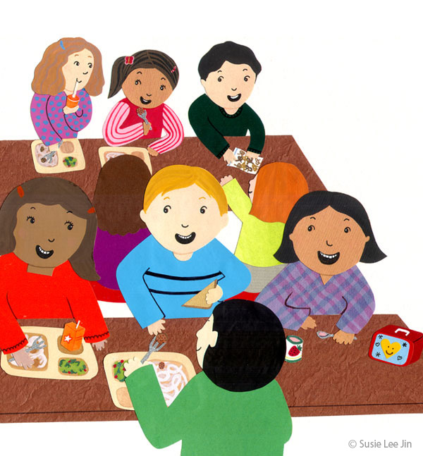kids eating lunch clipart Clipground