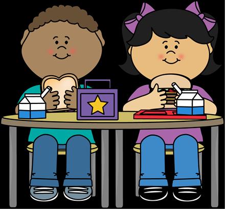 Children Eating Snack Clipart.