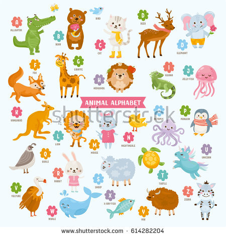 Kids Alphabet Stock Images, Royalty.