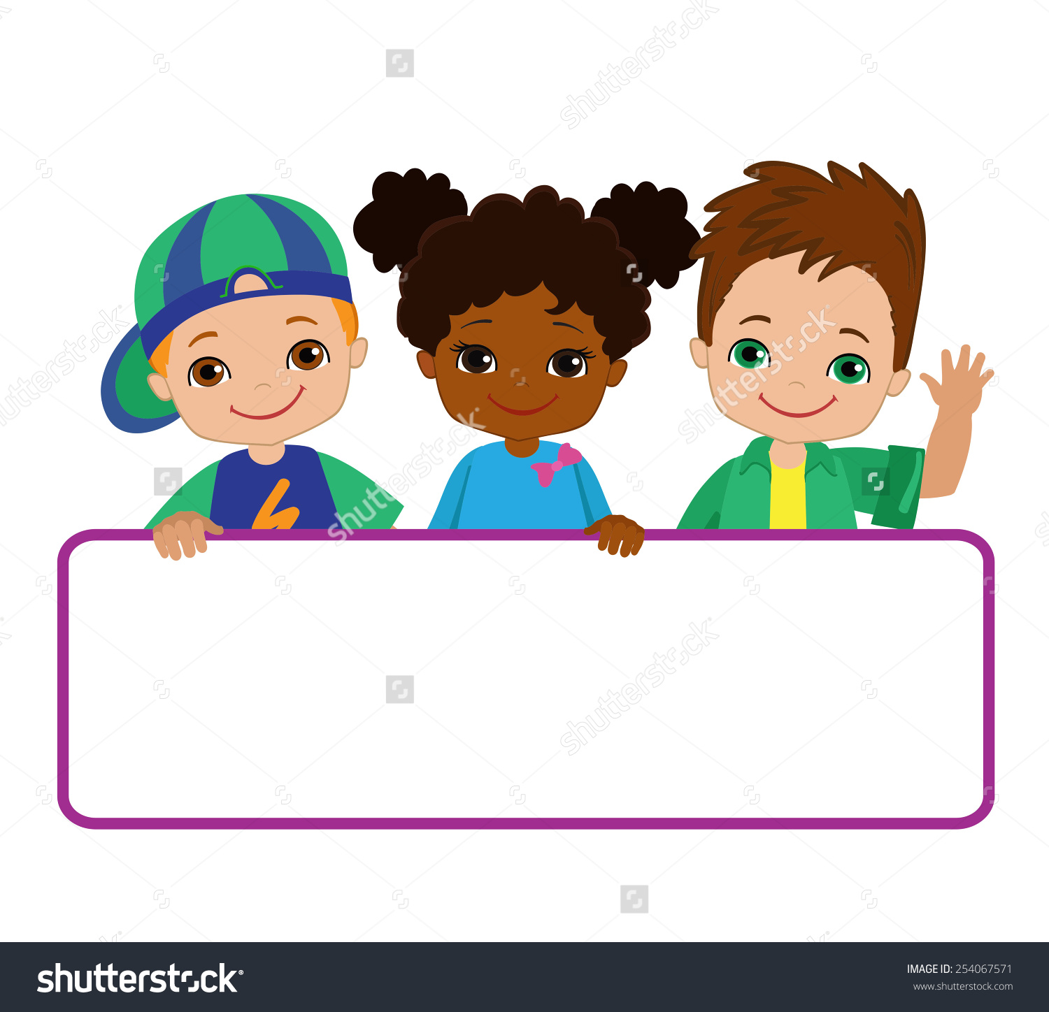 Kids Signs Bricht Kids Frame Board Stock Vector 254067571.