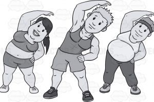 Kids exercise clipart black and white 1 » Clipart Portal.
