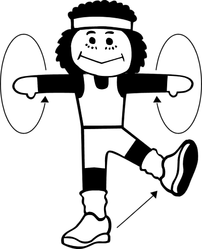 Kids exercise clipart black and white 2 » Clipart Portal.