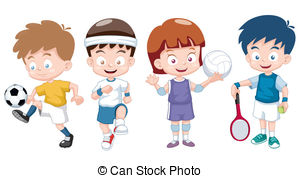 Kids exercising clipart » Clipart Station.