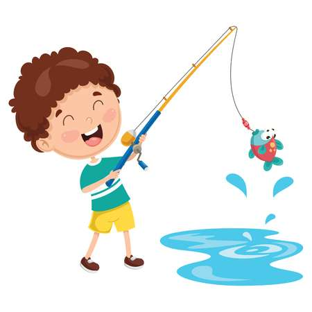Kid fishing clipart 5 » Clipart Station.