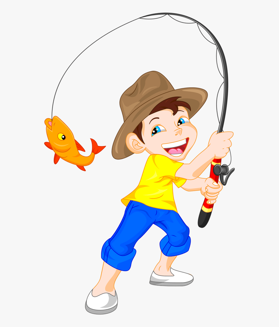 Fishing Clipart Little Boy.