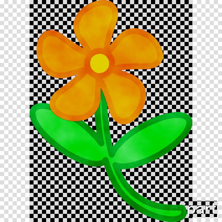 Green Flower clipart.
