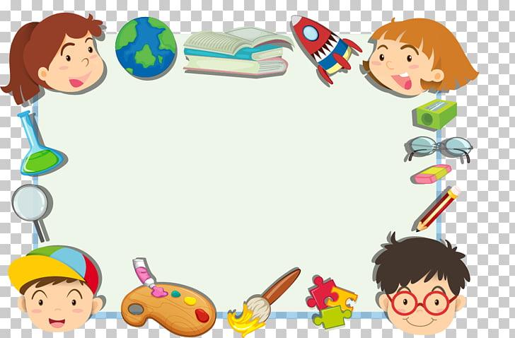 Child Cartoon , Cute cartoon kids frame, dry.