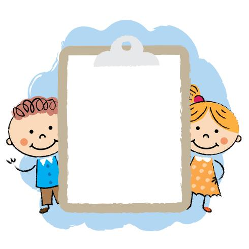 Cute cartoon kids frame.