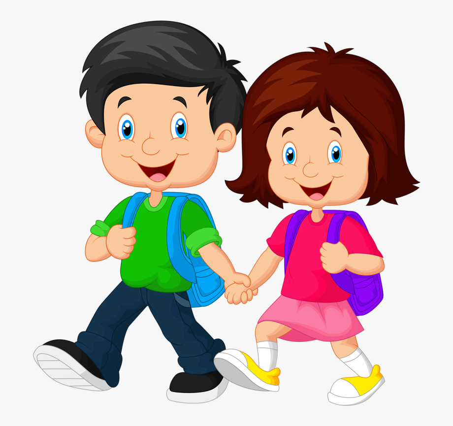 Kids Going To School Clipart Png , Png.