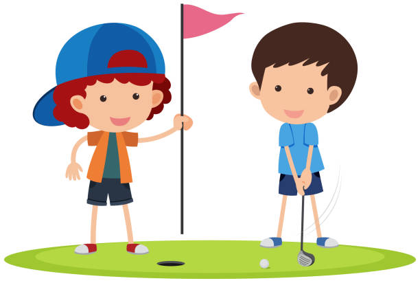 Best Kids Golf Illustrations, Royalty.